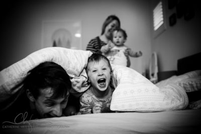 bed time and documentary family photography