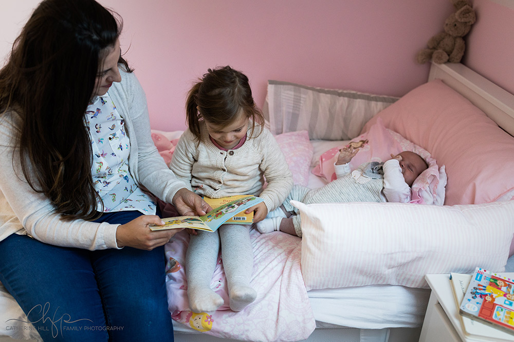 mummy reads to Nylah - photography shoot - a slice of family life